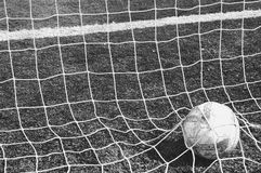 Football. A football in the net Royalty Free Stock Photos