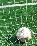 Football. A football in the net Royalty Free Stock Image