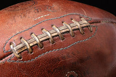 Football. Old Game Ball Stock Photo
