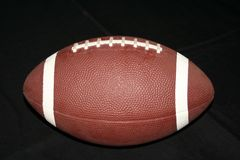Football. Image of a football isolated on black background Stock Image