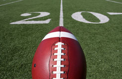 Football above the Twenty Yard Line Stock Photography