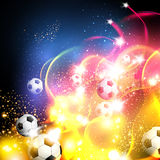 Football abstract art background Stock Image