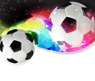 Football abstract background. Soccer ball on a transparent spectral background Royalty Free Stock Photo