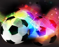 Football abstract background. Soccer ball on a transparent abstract background stock illustration
