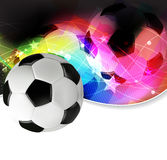 Football abstract background. Soccer ball on a wavy abstract background stock illustration