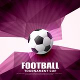 Football abstract background  with geometric shapes. Illustration Royalty Free Stock Image
