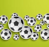 Football abstract background. Vector illustration Stock Images