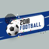 Football abstract banner with design elements. Illustration Stock Photography