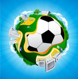 Football planet illustration Stock Images