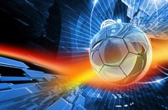 Football Action Background. Global Football Action Background. Cool Blur-Red Action Background - Soccer Theme ( European Football ) 3D Render Illustration Royalty Free Stock Images