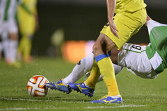 Football action - hard tackle Stock Images