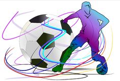 Football and action Royalty Free Stock Photo
