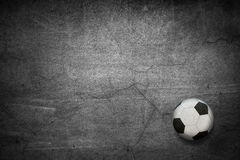 The football against Royalty Free Stock Photos