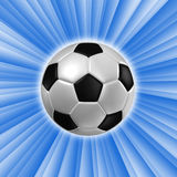 Football against blue sky . Stock Photography