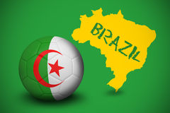 Football in algeria colours Royalty Free Stock Image