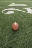 Football along the twenty yardline Stock Image