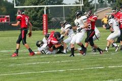 Football américain de lycée Images libres de droits