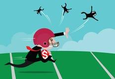 Football américain de port d'homme d'affaires Image stock