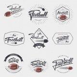 Football américain - l'insigne, autocollant peut être employé pour concevoir des sites Web, vêtements Photo libre de droits