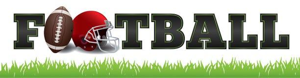 Football américain Word Art Illustration Image stock