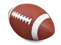 Football. American  Ball Isolated Superbowl Sport Single Object Stock Photography