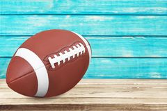 Football. American  Ball Isolated Superbowl Sport Single Object stock images