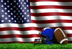 Football with American Flag Stock Images