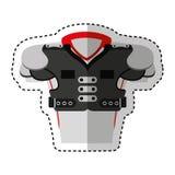 Football american jacket icon Stock Photos