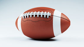 Football. American football  over a white background Royalty Free Stock Image