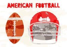 Football americano astratto degli accessori Immagini Stock