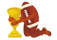 Football americano con la tazza Fotografie Stock