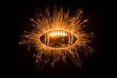 Football americano frizzante Fotografia Stock