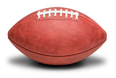 Football americano professionale americano su bianco Immagini Stock