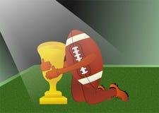 Football americano sotto il riflettore Immagini Stock Libere da Diritti
