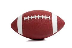 Football americano su bianco fotografia stock libera da diritti