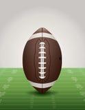 Football americano sull'illustrazione del campo di erba Fotografie Stock Libere da Diritti
