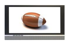 Football americano in TV illustrazione di stock