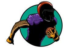 football amerykański gracza Super Bowl sporta tematu wektoru ilustracja royalty ilustracja