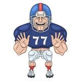football amerykański gracza royalty ilustracja