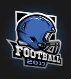 football amerykański hełm Gra 2017 emblemat Zdjęcia Stock
