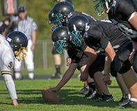 Football américain d'étudiant de première année Photos libres de droits
