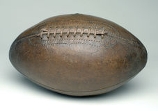 Football. Antique leather football on white Royalty Free Stock Images