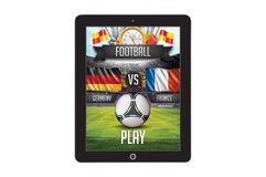 Football app concept template Royalty Free Stock Image