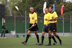 Football arbitrators Stock Image