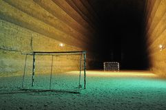 Football area underground Royalty Free Stock Image