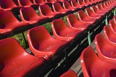 Football arena!. Rows of seats for spectatores in a football arena Stock Images