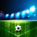 2018  soccer championship. Football filed. Football Arena. Night background football field stadium and fans 2018 soccer championship Stock Image