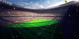 Football Arena Stadium Day championship win. blue toning Royalty Free Stock Images