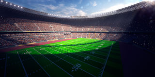 Football Arena Stadium Day Royalty Free Stock Images