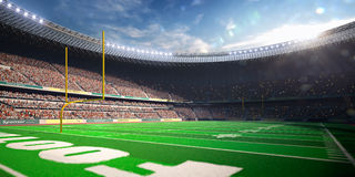 Football Arena Stadium Day Stock Image